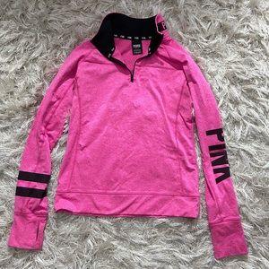 VS Pink quarter zip pullover